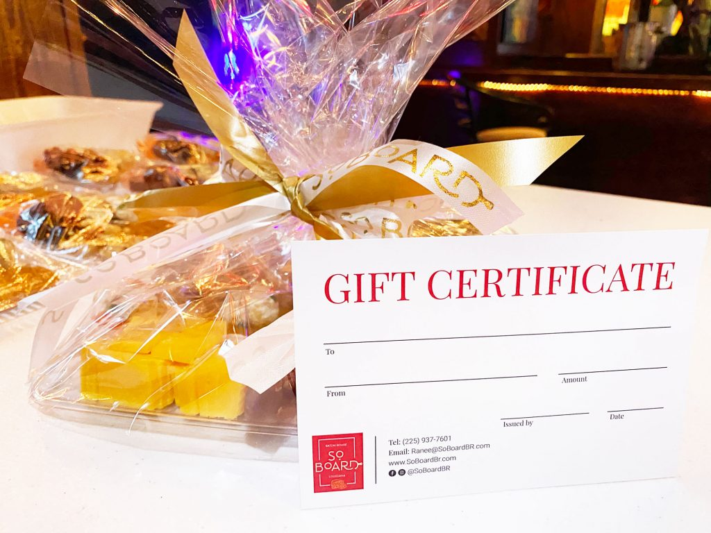 So Board Gift Certificates